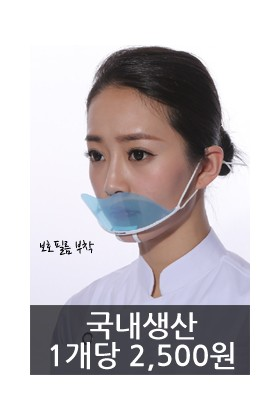 국민보급형/투명위생마스크/1개당 2,500원 made in KOREA(10개한세트)