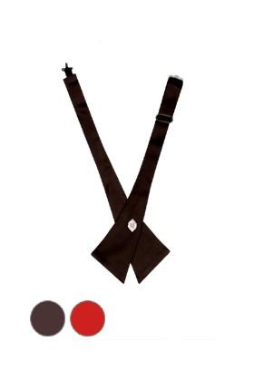3가지 컬러의 장식포인트 공단삼각타이