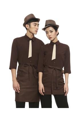 YU30-7CO 타이 on 커피 스판 칠부셔츠 (공용)
