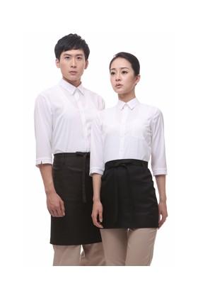 YU04-7WW 백색 스판 칠부셔츠(공용)