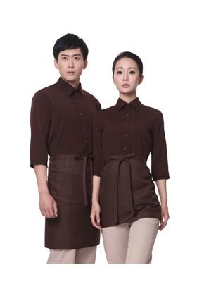 YU04-7CO 커피 스판 칠부셔츠(공용)