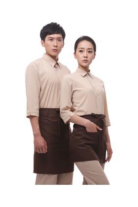 YU04-7BE 베이지 스판 칠부셔츠(공용)