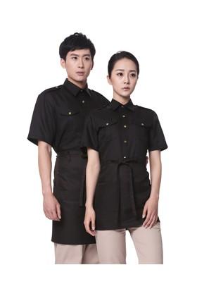 YU29-5BB 검정 무마크 BAR 반팔셔츠(공용)