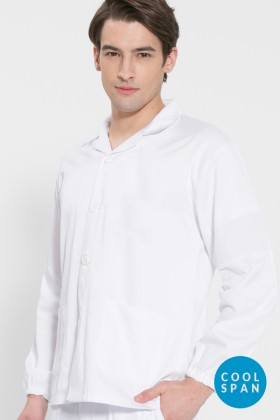 긴팔 TC20수 쿨스판 위생복 셔츠(남성용) /화이트(FS-102)