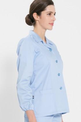 긴팔 TC32수 스판덱스 위생복 셔츠(여성용) /스카이블루(FS-113)