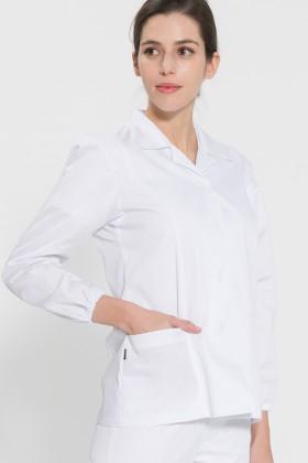긴팔 TC32수 스판덱스 위생복 셔츠(여성용) /화이트(FS-109)