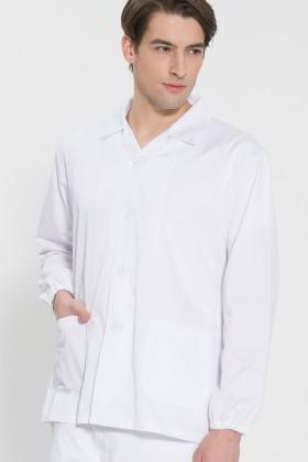긴팔 TC32수 스판덱스 위생복 셔츠(남성용) /화이트(FS-107)